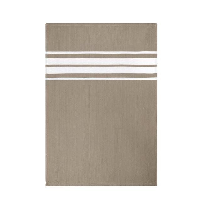 EM Kitchen Set Taupe - 10 Theedoeken Gestreept 50x70cm