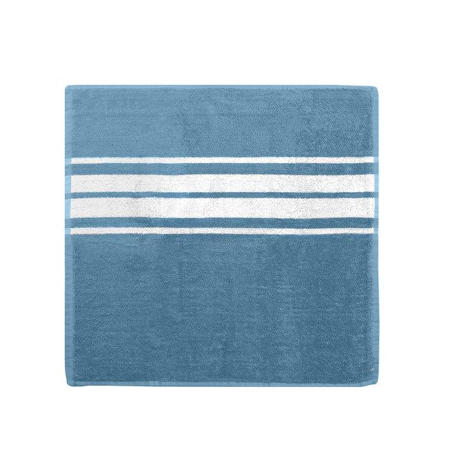 EM Kitchen Set Blauw - 10 Keukendoeken Gestreept 50x50cm