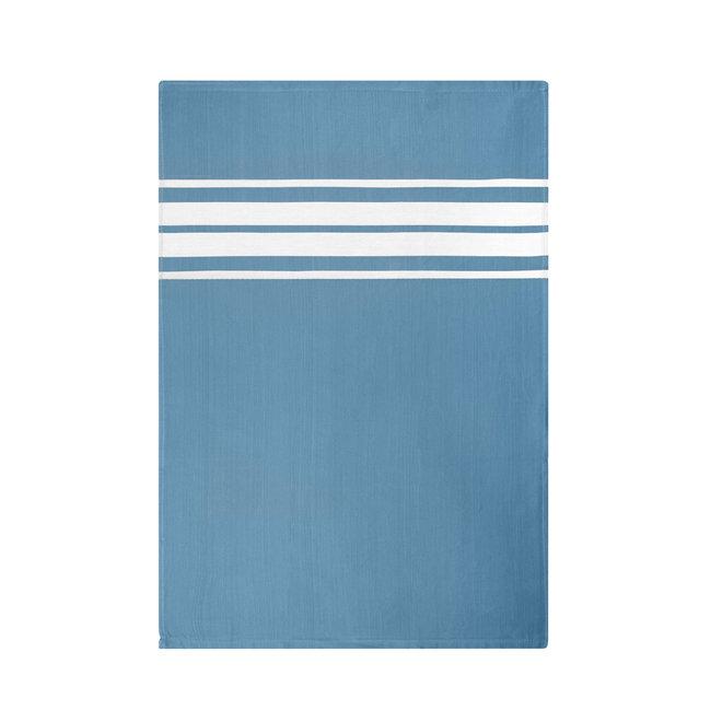 EM Kitchen Set Blauw Gestreept - 4 Theedoeken + 4 Keukendoeken