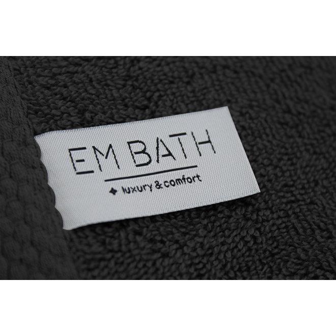 EM Bath Premium Handdoek Zwart 50x100cm - Set van 5