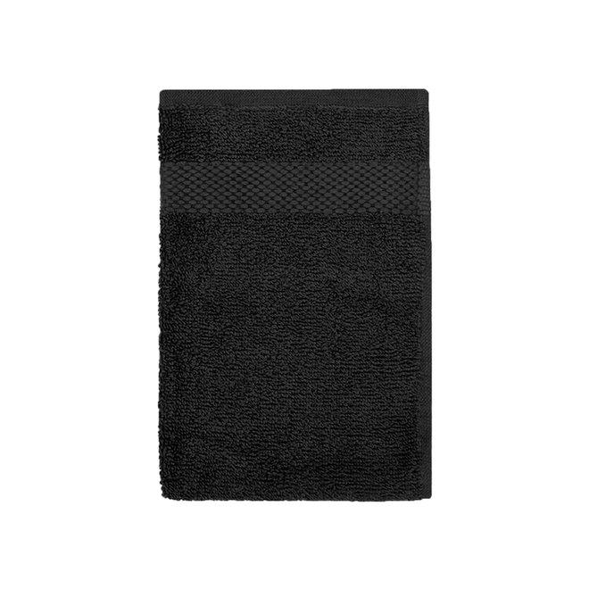EM Bath Gastendoek Zwart 30x50cm - Set van 6