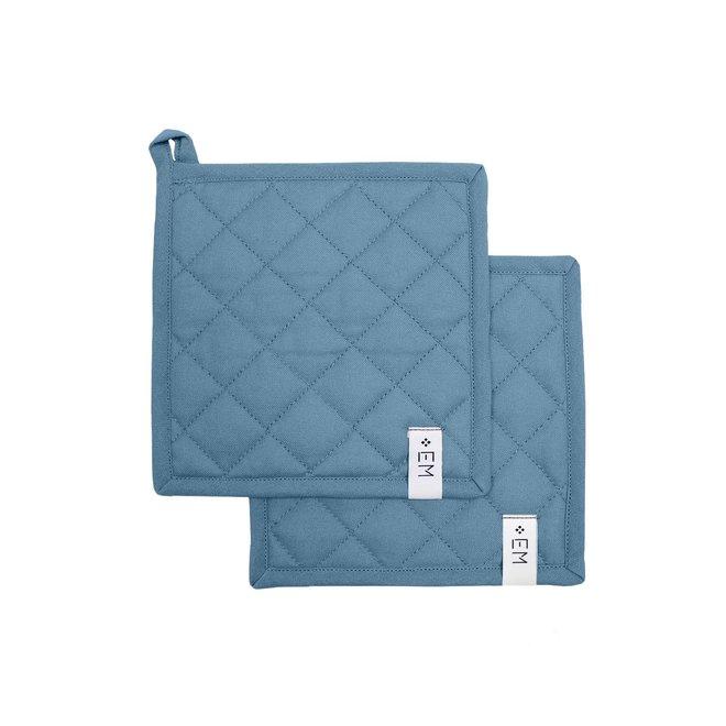 Pannenlappen Blauw - 20 x 20 cm