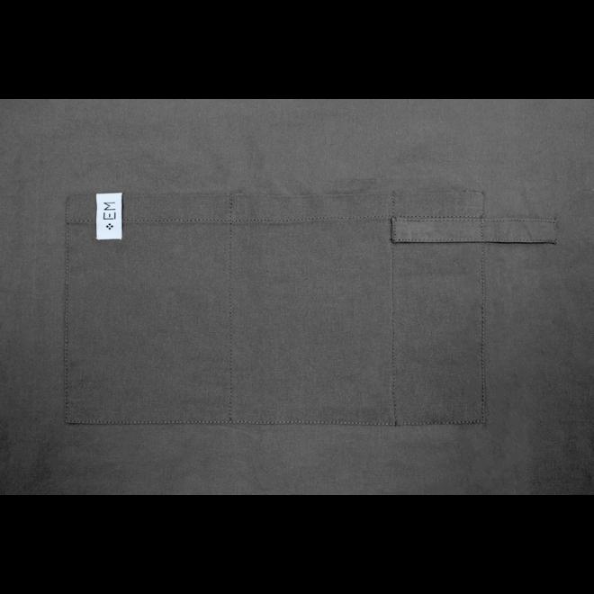 EM Kitchen Keukentextiel Set – Donkergrijs - 13-delig – 4 Theedoeken + 4 Keukendoeken + 2 Vaatdoeken + 2 Pannenlappen + 1 Keukenschort