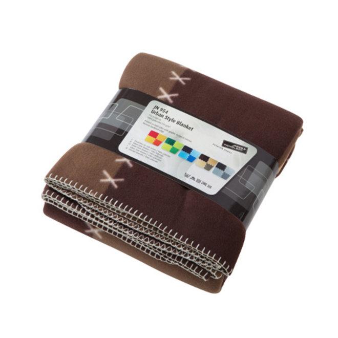 Fleece Plaid Urban Style Bruin 15 0x 200 cm