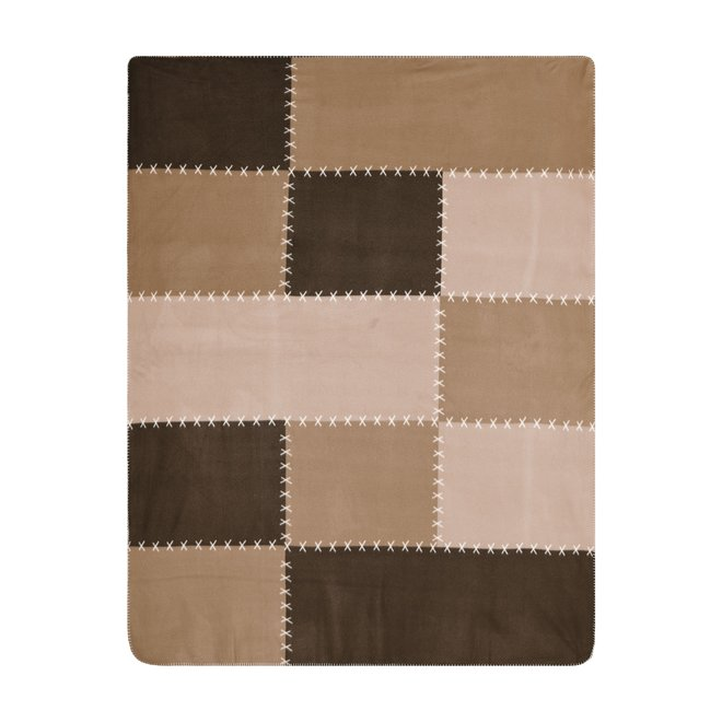 James and Nicholson XXL Fleece Plaid Urban Style Bruin 150 x 200 cm