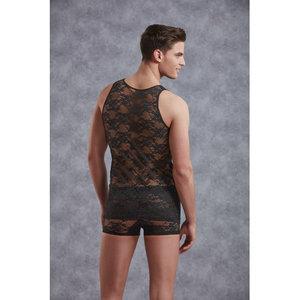 Doreanse Mannenhemd Met Bloemenpatroon - Zwart