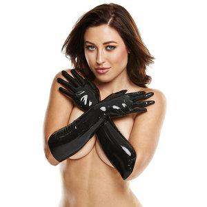 LATEXWEAR Lange Latex Handschoenen - Zwart
