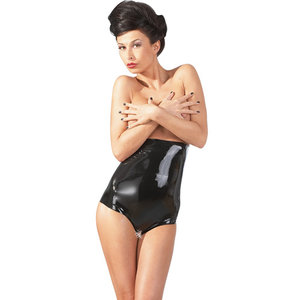 The Latex Collection Latex Slip Met Open Kruis En Hoge Taille