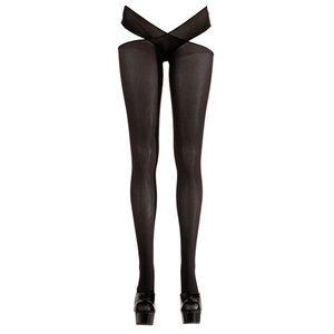 Cottelli Collection Panty met open kruis - Zwart
