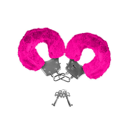 Neon Luv Touch Neon Furry Cuffs - Roze