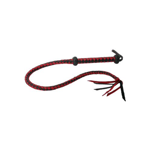 Strict Leather Premium Red And Black Leren Zweep