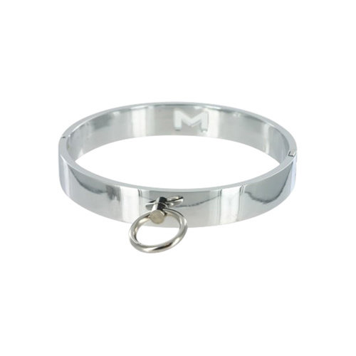 Master Series Chrome Slave Collar - Medium/Large