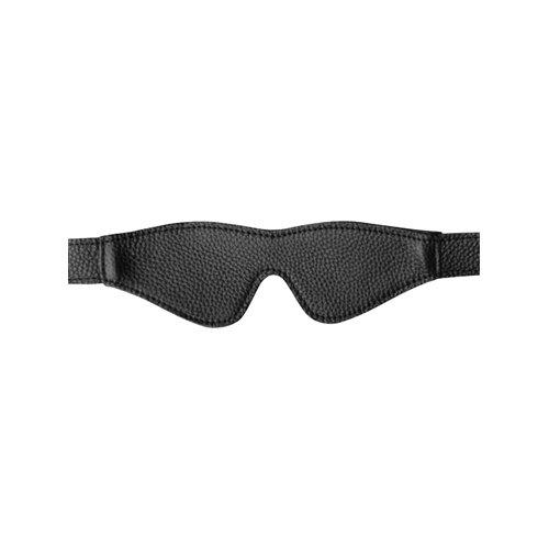 GreyGasms Leren Blinddoek - Zwart