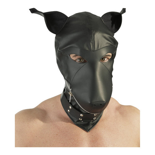 Fetish Collection Hondenmasker met Nekband