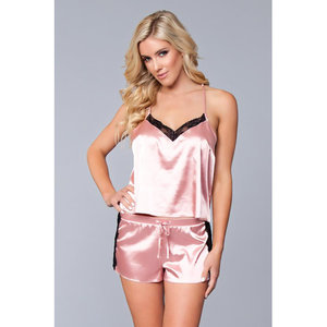 Be Wicked Jasmina Hemd & Short Set - Roze
