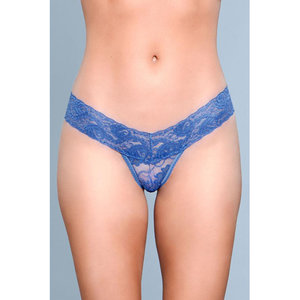 Be Wicked V-Cut Kanten String - Blauw
