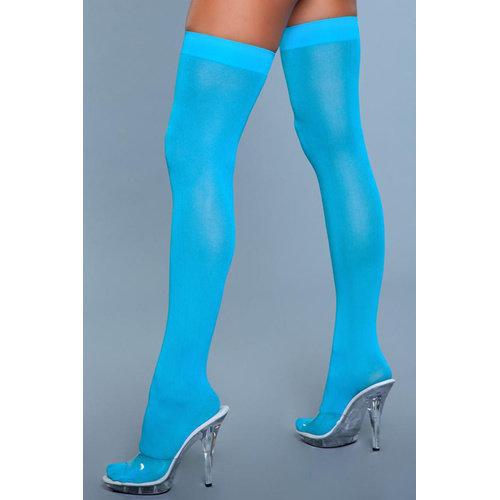 Be Wicked Hoge Nylon Kousen - Turquoise