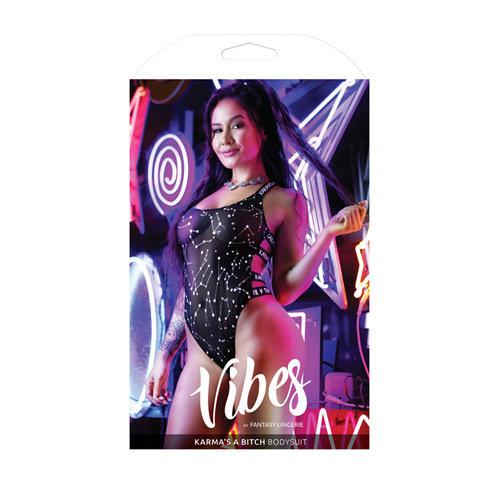 Vibes Body Met  Zodiac Print - Zwart/Metallic