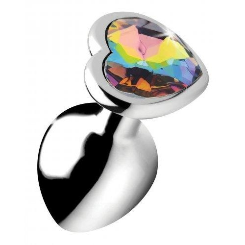 Booty Sparks Rainbow Heart Buttplug - Middel