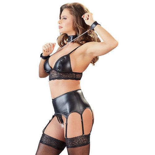 Cottelli Collection Bra Suspender Set S