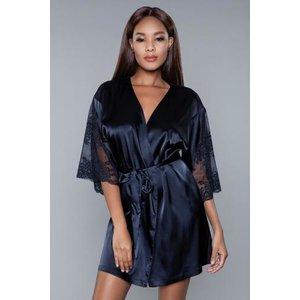 Be Wicked Grace Satijnen Kimono - Zwart