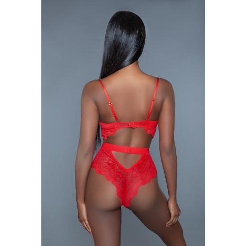 Be Wicked Bettany Kanten Body - Rood