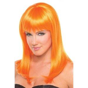 Be Wicked Wigs Hollywood Pruik - Oranje
