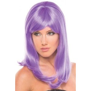Be Wicked Wigs Hollywood Pruik - Lichtpaars