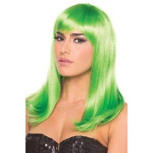 Be Wicked Wigs Hollywood Pruik - Groen
