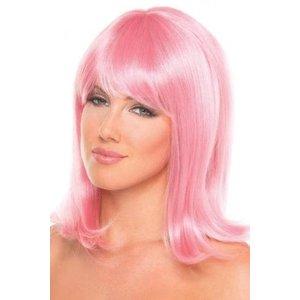 Be Wicked Wigs Doll Pruik - Lichtroze