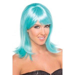 Be Wicked Wigs Doll Pruik - Aqua
