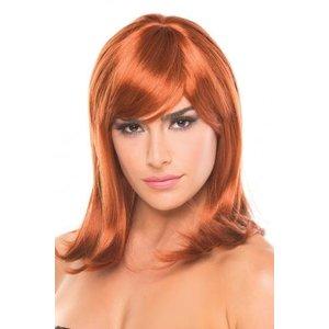Be Wicked Wigs Doll Pruik - Kastanjebruin