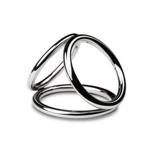 Sinner Gear Unbendable Sinner - Triad Chamber Metalen Cock- En Balring - Medium