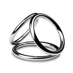 Sinner Gear Unbendable Sinner - Triad Chamber Metalen Cock- En Balring - Large