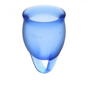 Satisfyer Satisfyer Feel Confident Menstruatiecup Set - Blauw