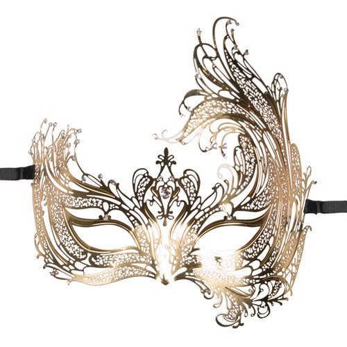 Easytoys Fetish Collection Easytoys Open Venetiaans Masker - Goudkleurig