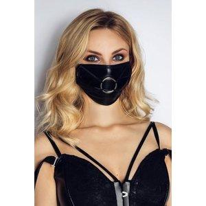 Noir Handmade Sexy Mondmasker Met Ring