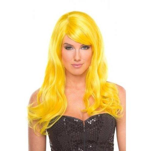 Be Wicked Wigs Burlesque Pruik - Geel