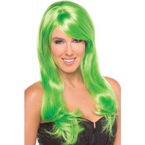 Be Wicked Wigs Burlesque Pruik - Groen