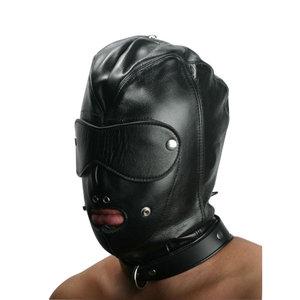 Strict Leather Locking Slave Hood Hoofdmasker
