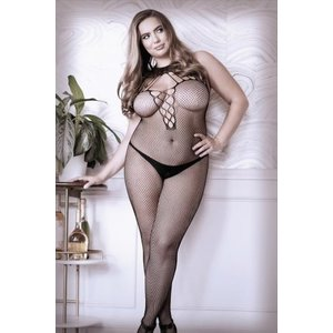 Sheer Fantasy Adore You Catsuit Met Halternek - Curvy