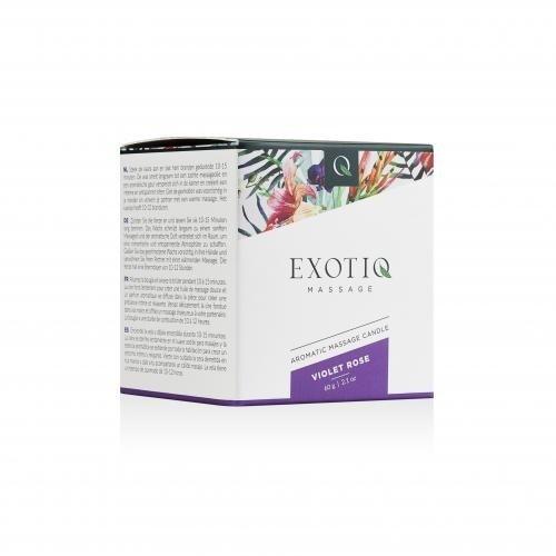 Exotiq Exotiq Massagekaars Violet Rose - 60g