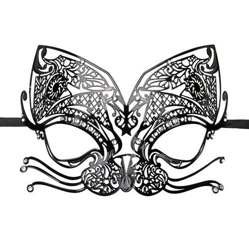 Easytoys Fetish Collection Easytoys Opengewerkt Venetiaans Masker - Zwart