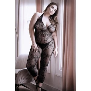 Sheer Fantasy Good As Hell Catsuit Met Open Kruisje - Curvy