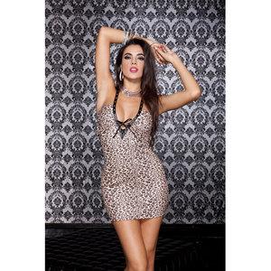 Music Legs Sexy mini jurkje met luipaard print