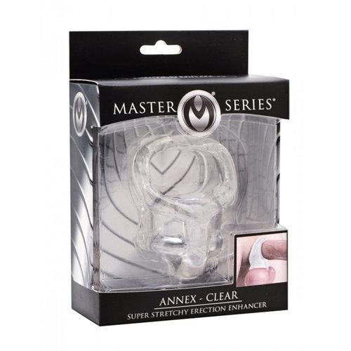 Master Series Annex Clear Cockring En Ballstretcher
