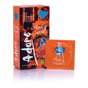 Pasante Adore Flavours Condooms - 12 Stuks
