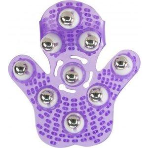 PowerBullet Roller Balls Massage Handschoen - Paars