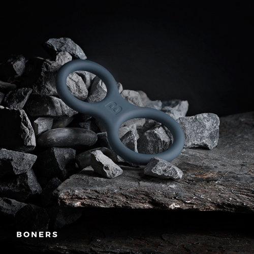 Boners Boners Siliconen Cockring En Ballstretcher - Grijs