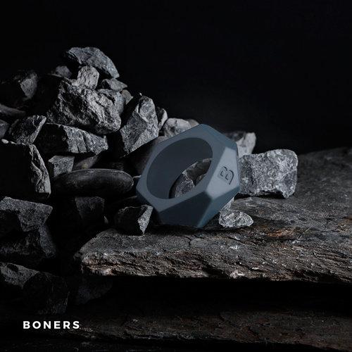 Boners Boners Cockring Met Diamant Design - Grijs